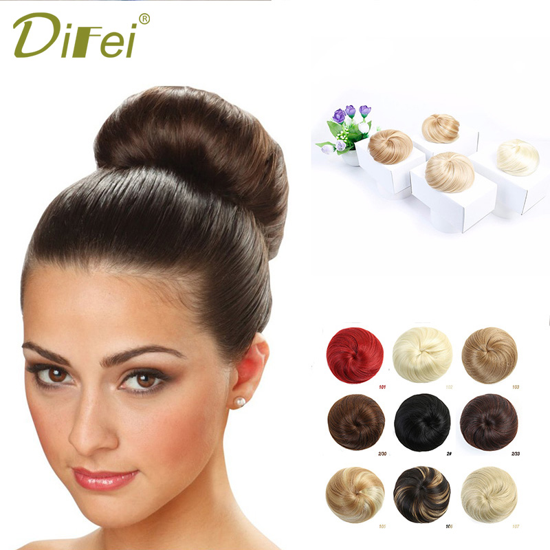 DIFEI 10 Color Optional Contract Cute Women Hairbun Hair Bag Chignon Bun Hair Extensions Synthetic Chignon