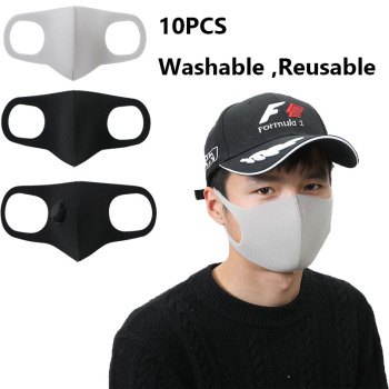 10pcs Sponge Face Mask Black Mouth Mask Reusable Mask Washable Mascarillas Face Shield Masque Facial Mask jayjun biocellulose mask