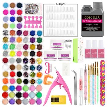 Acrylic Manicure Set 78pcs Acrylic Powder Glitter For Nail Art Kit Crystal Rhinestone Brush Decoration Tools Kit For Manicure 2