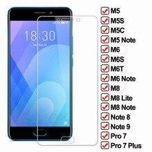 9d proteção de vidro para meizu m5 m6 m8 nota 8 9 m8 lite temperado protetor de tela m6s m6t m5c m5s pro 7 mais película de vidro de segurança