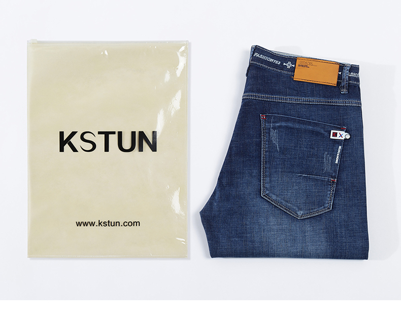 KSTUN Jeans Men Slim Straight Blue 2020 Summer Thin Regular Fit Casual Pants Cotton Men's Clothing Trousers Male Jeans Hombre 20