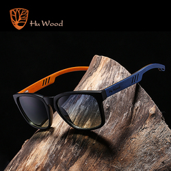 HU WOOD Brand Design Polarized Sunglass Skateboard Wood Sunglasses For Men Women Lenses Driving gafas de sol mujer GR8011