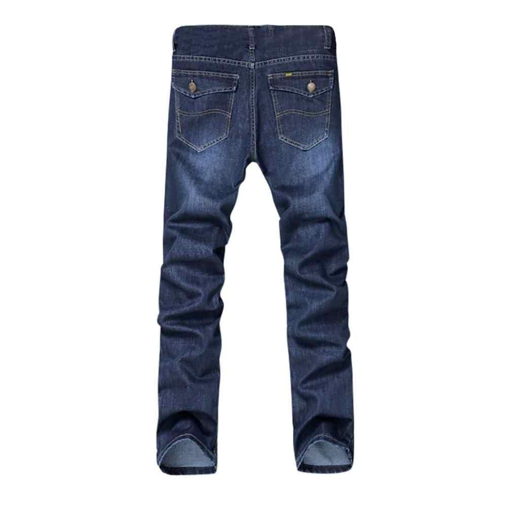 Pantalones de mezclilla de corte Delgado rayado de alta calidad de Color puro de algodón lavado Vintage de Hip Hop pantalones vaqueros más tamaños