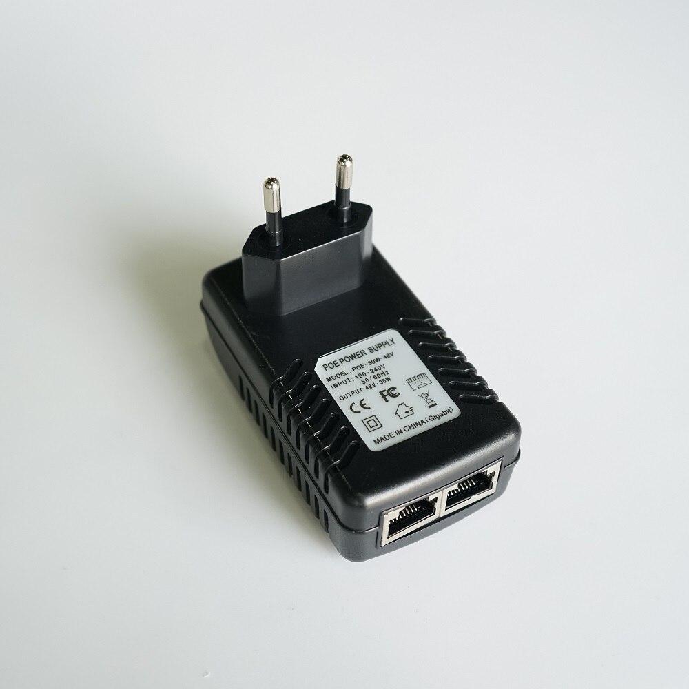 EU stecker, POE power adapter, Eingang AC 100-240 V, ausgang DC48V 0.5A für DAHUA Video Intercom VTO3211D-P und VTO2111D-WP