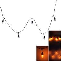 S14 24pcs Light Bulb Outdoor Yard Lamp String Light With Black Lamp Wire Outdoor Garden Light String Spherical Set 24 Lights