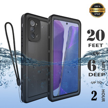 IP68 360 Full Protection Waterproof Phone Case for Samsung Note20 10 8 9 S20 S10 S9 Plus