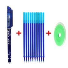 цена 12 Pcs/Set Erasable Pen Refill Washable Handle Rod 0.5mm Blue/Black/Red Ink Gel Pen for School Office Writing Supply Stationery онлайн в 2017 году
