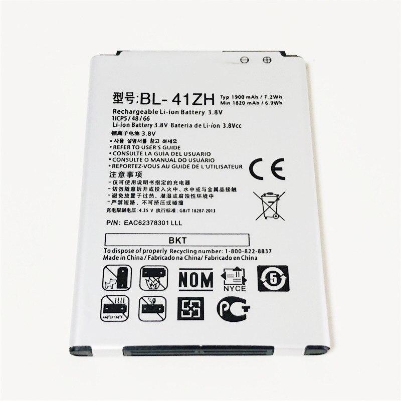 3.8V 1900mAh BL-41ZH Para LG L Fino D290 D290N D290G D290AR D290TR D295 D295F Bateria