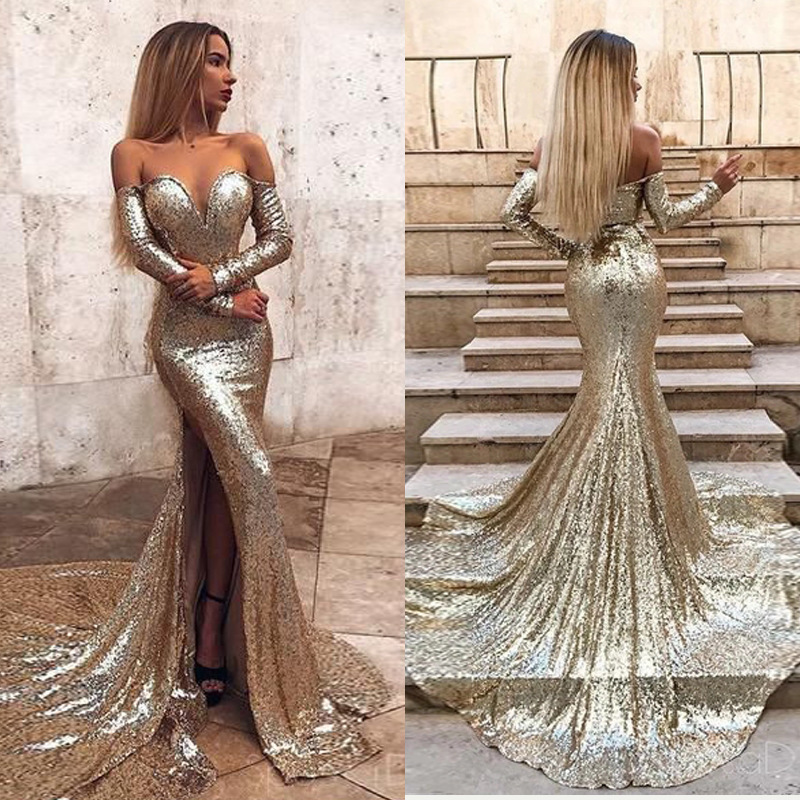 New European And American Women's EBay Cross Border Fashion Sexy Strapless Long Dress