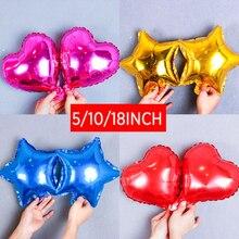 10 шт 18 Inch Цвет металлической алюминиевой фольги воздушных шаров свадьбные воздушный шар с гелием вечерние на свадьбу, день рождения, подаро...