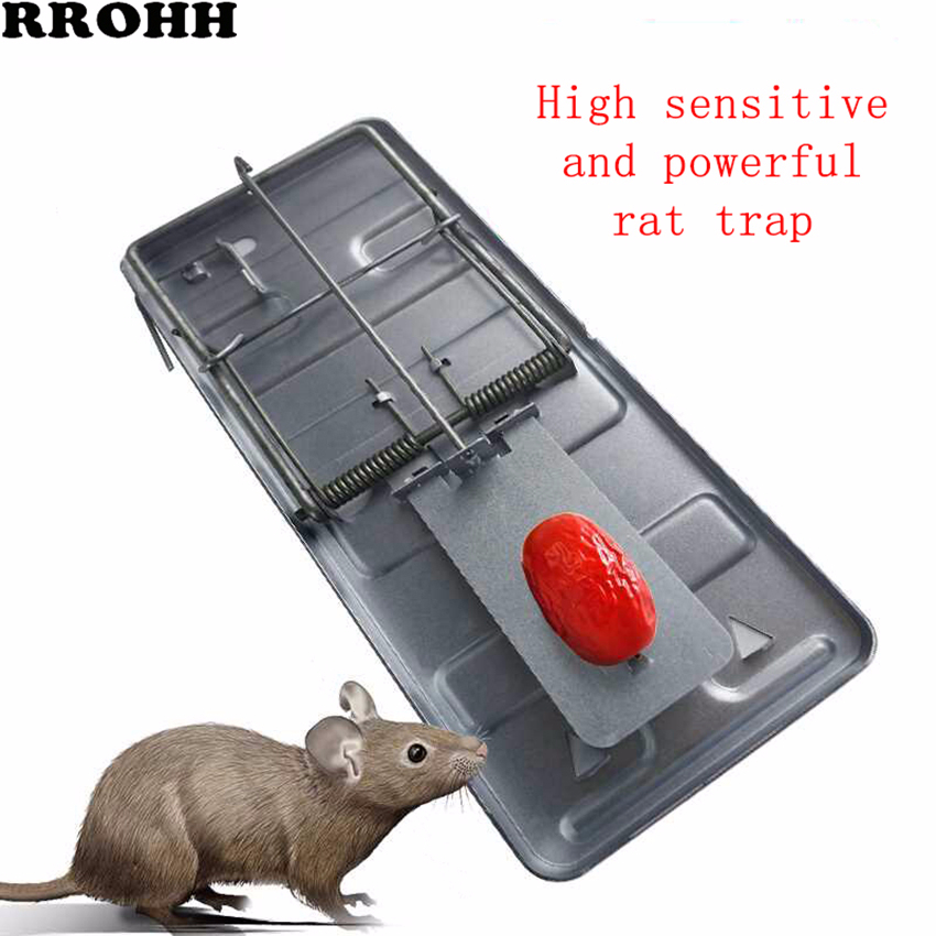 Eficiente Clip de ratón automático fuerte reutilizable trampa de ratón rata Killer Control trampa ratones captura de plagas Hogar automático continua ratonera reutilizable gran trampa para ratones jaula de roedores de gran efecto