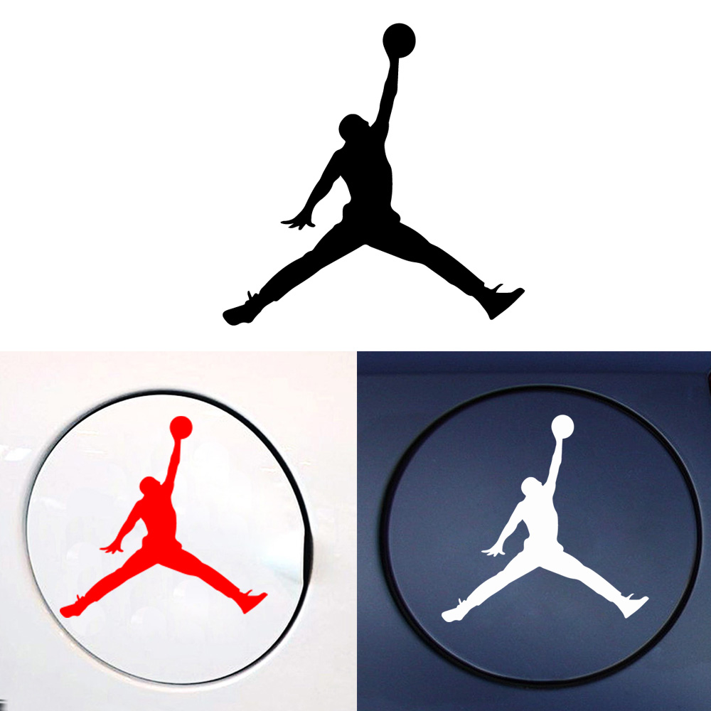 Fashion Michael Jordan Logo Flying Man Sign Car Stickers Vinyl Decal For Cars Decor Accessories Removable Wallpaper