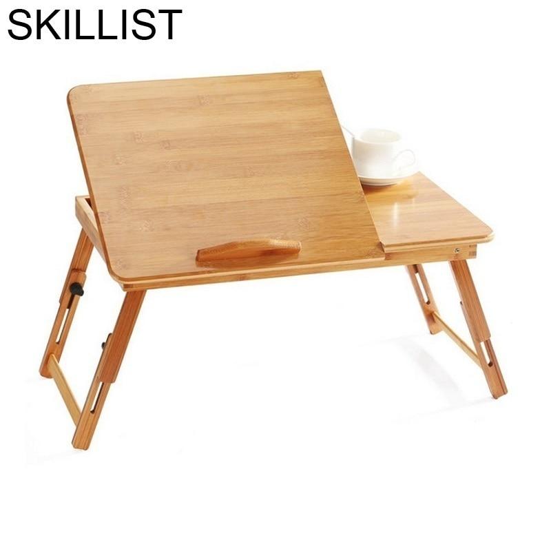 Ordinateur Portable Tafel Bed Biurko Stand Pliante Office Para Notebook Escritorio Bamboo Bedside Mesa Desk Computer Study Table