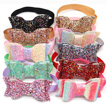 50X Christmas Pet Accessories  Pet Dog Puppy Cat Bow Tie Adjustable Shining Bowknot Bowties Dog Grooming Products Pet Supplies