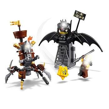 цена на Battle-ready Batman And Metalbeard 168pcs Building Blocks Compatible With Legoinglys 70836 45013 Bricks Building Toys Dc Movie