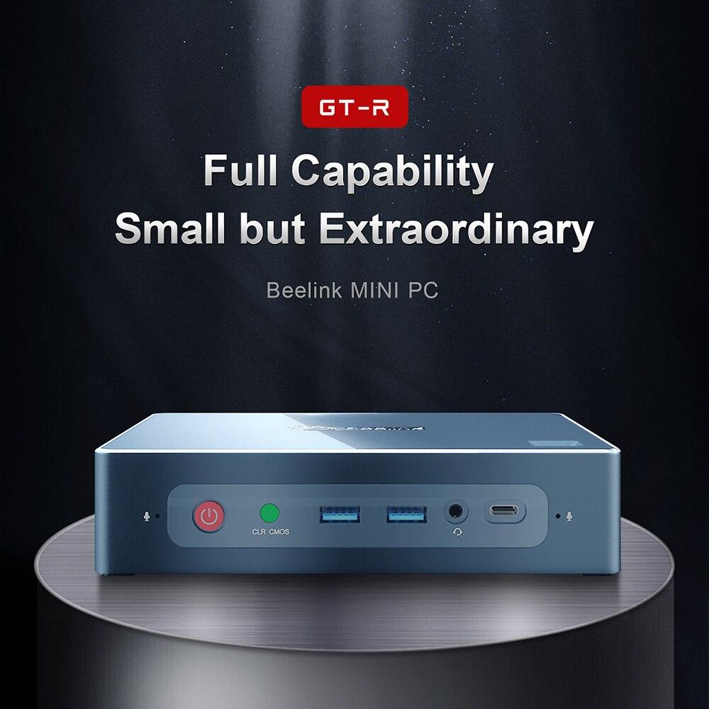 Beelink GT-R Mini PC AMD Ryzen 5 3550H 16GB 512GB 1 to 6 GTR HDD 4K Interaction vocale Windows 10 ordinateur de bureau HDMI Wifi 6 * USB