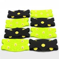 1 Pair 5-Stud Anti-Skid Snow Ice Climbing Shoe Spikes Ice Grips Cleats Crampons Winter Climbing Anti Slip Shoes Cover