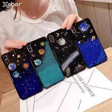 Luxury Foil Planet Starry Space Bling Case For Samsung Galaxy S7 S8 S9 S10 Plus Soft Glitter Back Cover Note5 8 9 A6 A8 A9 Plus(China)