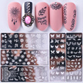1 pc Nail Stamping Plates Small broken flower / butterfly/rose Nail Art Image Template Stencil DIY Design Manicure Tool Plate