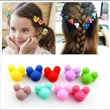 Cute Mini Hair Claw Charm Lots Acessories For Rabbit Girls Plastic Cartoon Mickey Crown Pin Children