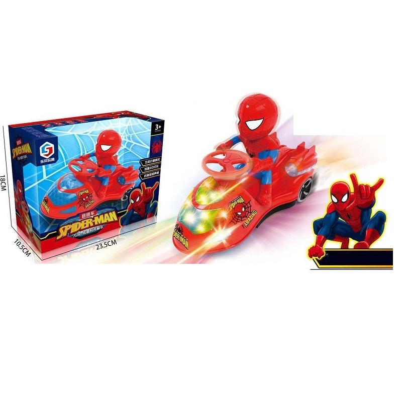 Spiderman Action Figure One Piece Spiderman Figure Toy With LED Flashlight Electronic Toys For Children Birthday Gift
