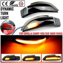Для Toyota Corolla Camry Prius Vios CHR Yaris Venza Avalon Altis светодиодный светильник с динамическим поворотным сигналом последовательный боковой зеркальный инди...