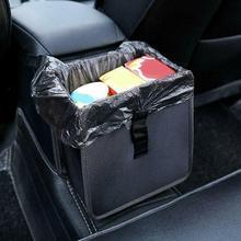 Car Trash Bin Comfortable Car Garbage Can Portable Waterproof Drive Seat Bin Hanging Wastebasket Garbage Litter M3D5
