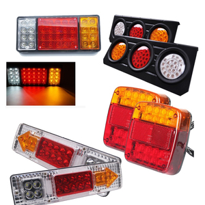 2pcs Trailer Truck Caravan Boat Car Led Rear Stop Tail Light 12V 24V Warning Light 8 19 20 36 46 75 LEDS Automobiles Taillights