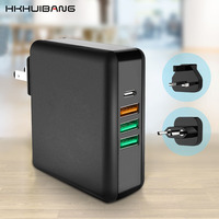 61W PD Type C USB Fast Charger For MacBook Huawei Laptop Power Adapter Quick Charge 3.0 Phone Tablet USB Charger US EU UK 3 Plug