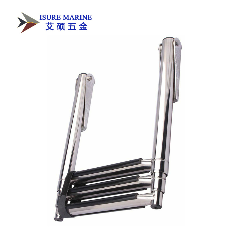 ISURE MARINE 3 Step Stainless Steel Telescoping Boat Ladder Swim Step