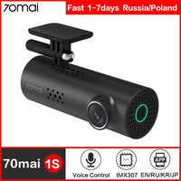 70mai Dash Cam 1S coche DVR Cámara Wifi APP de inglés y de Control de voz 1080P HD noche visión G -sensor 70 Mai Dashcam grabadora de vídeo
