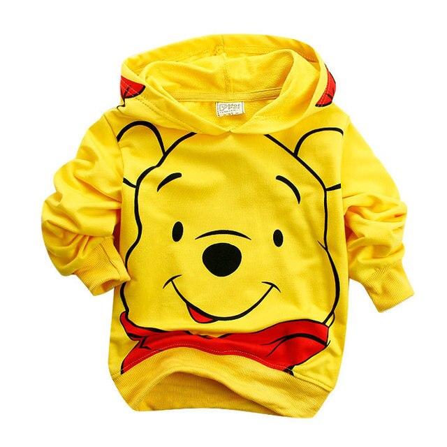 Edward Bear Vigny Winnie Boys Girls casual Sweatshirt Kids Hoodies Long Sleeve Sweatshirt Children Clothes 4