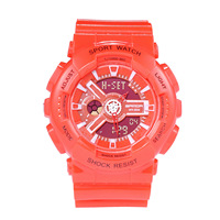 Explosion Model Multi function Sports Electronic Watch Dual Display Student Hipster Harajuku Color Jelly Children Watches
