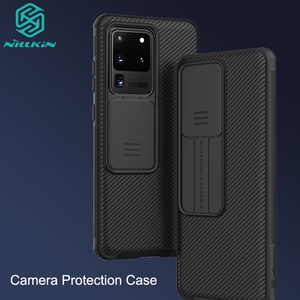 Camera Protection Case For Samsung Galaxy S20 /Plus /Ultra NILLKIN Slide Protect Cover Lens Protection Case For Samsung S20(China)