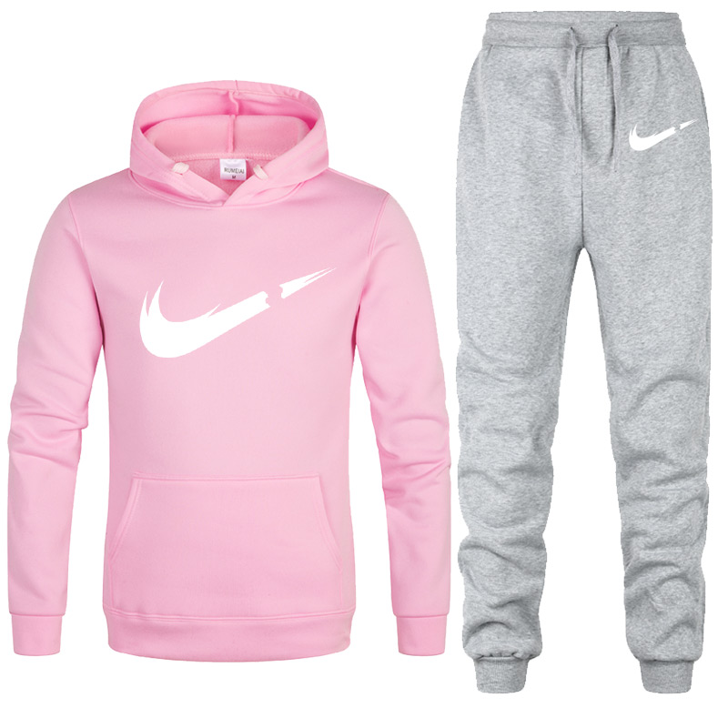 New Two Pieces Set Fashion Hooded Sweatshirts SportswearwomanTracksuit Hoodie Autumn Brand Clothes Hoodies+Pants Woman Sets