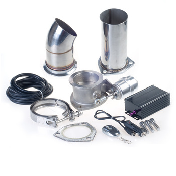 "Universal  2.5''/3"" Exhaust Vacuum Pump Electric Exhaust Cut Out Valve Exhaust Pipe Muffler Kit with Wireless Remote Control"