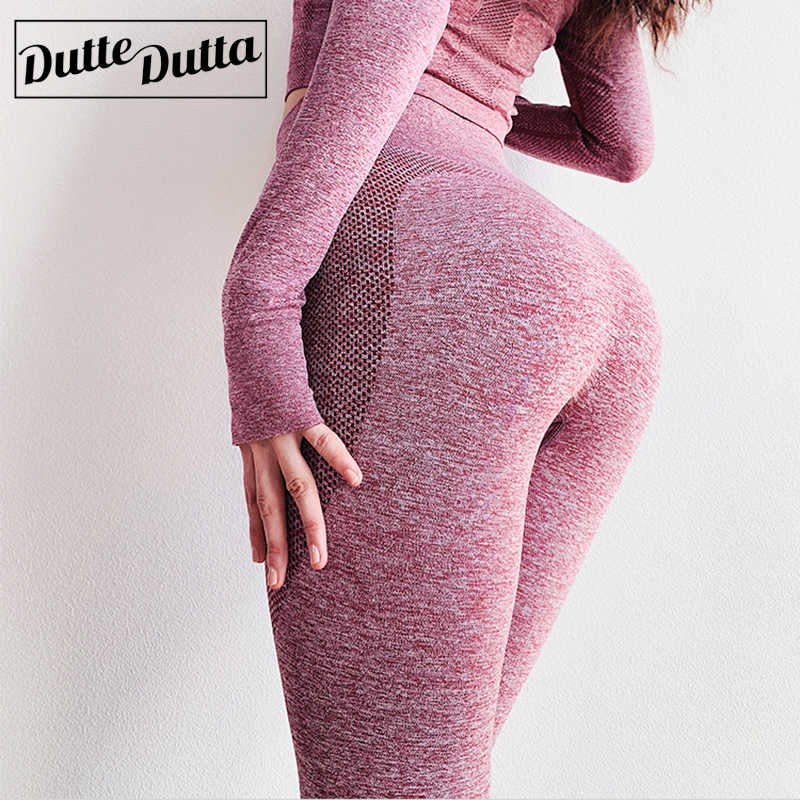Gym Yoga Pants Sports Wear For Women Tummy Control High Waist Leggins Sport Tights Woman Fitness Seamless Leggings Sportswear