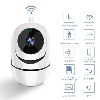 Smart Wifi Camera HD 1080P Cloud Wireless IP Camera Intelligent Auto Tracking Of Human Home Security Surveillance
