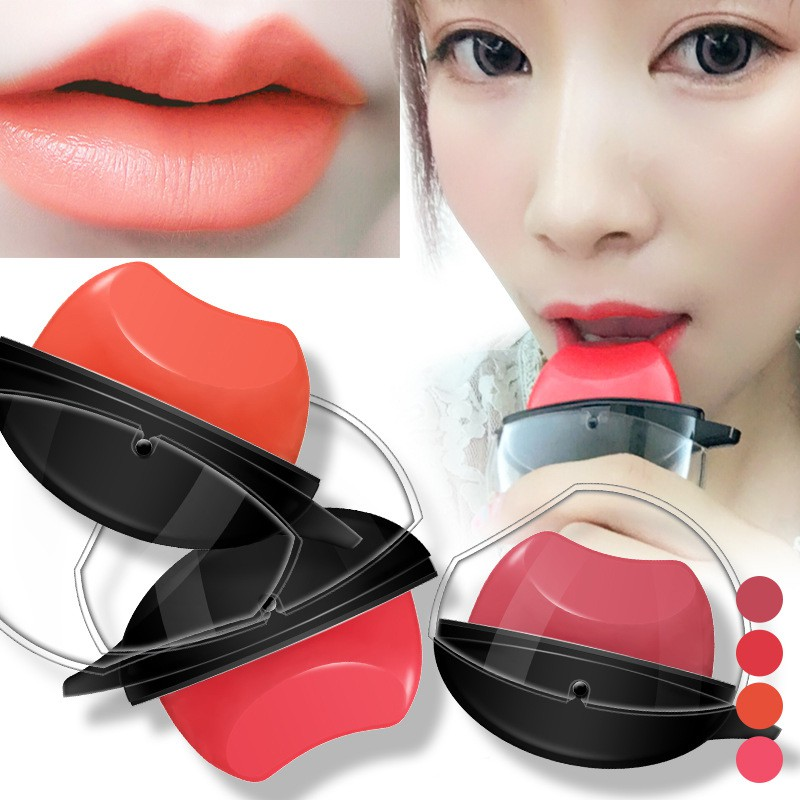 Купить с кэшбэком NEW Lip Shape Matte Lipstick 4 Color Waterproof Lip stick Moisturizer Long-lasting Lip Gloss Non-Stick Cup Makeup Lipsticks