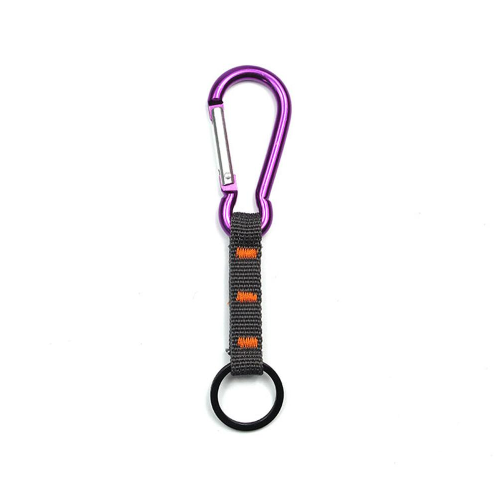 Aluminum Carabiner Outdoor Equipment Tool Backpack Kettle Slip Buckle Multi-function Key Ring For Outdoor Climbing Hiking