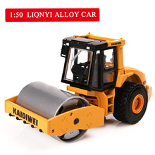 1:50 high simulation engineering vehicles,alloy single drum roller models toys,diecast metal collection model,free shipping цена 2017