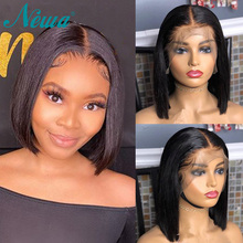 Brazilian Wig Straight Short Bob Lace Front Wigs Remy Hair 13x6 Lace Front Human Hair Wigs Pre plucked With Baby Hair Newa Hair