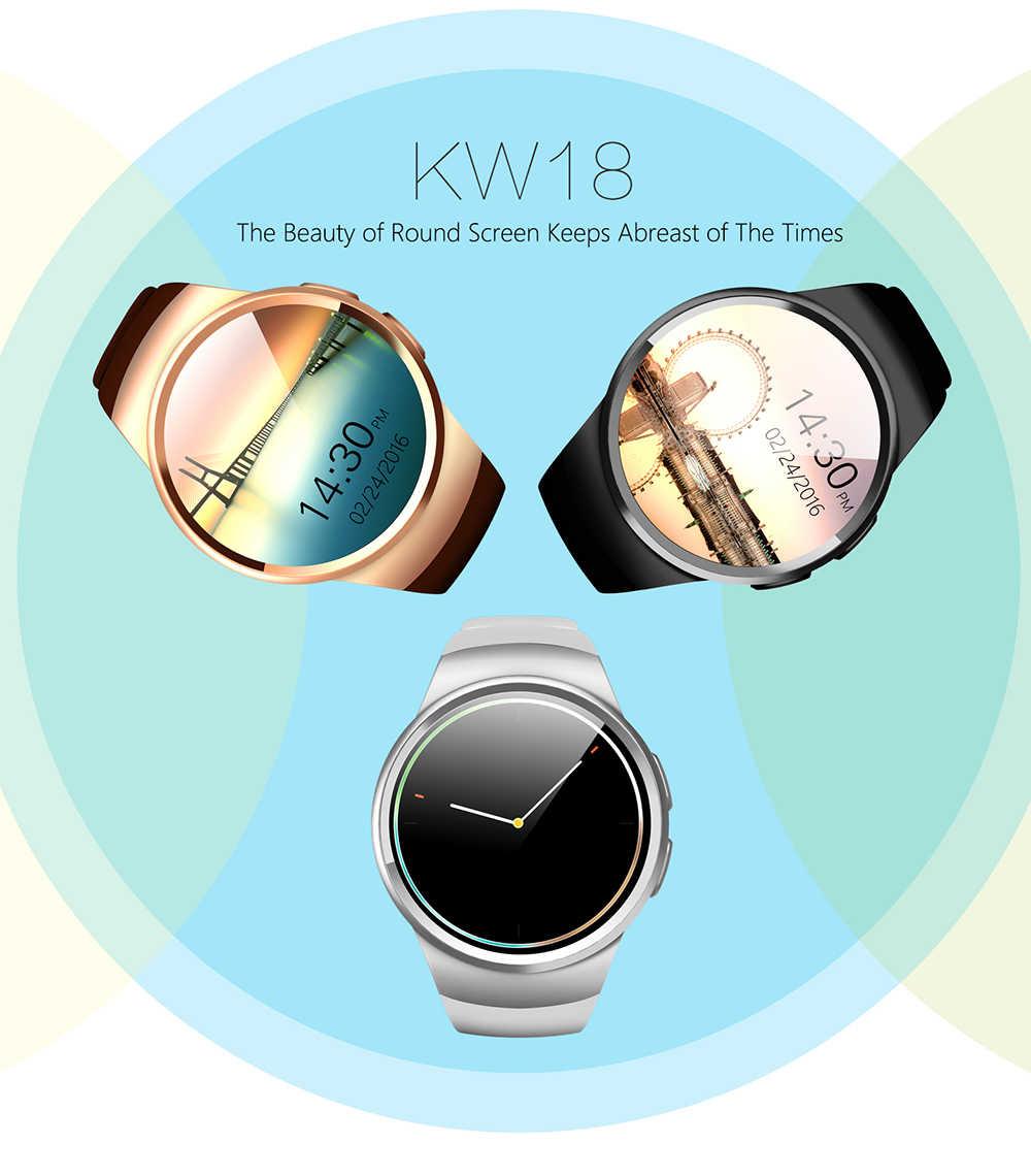 Reloj inteligente con Bluetooth FELYBY KW18 compatible con tarjeta SIM Android iOS con tarjeta TF