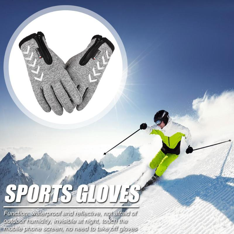 Hot Sale Skiing Gloves Multi-function Winter Touch Screen Waterproof Gloves Reflective Strip Outdoor Sports Gloves