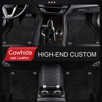 Genuine Leather Cowhide Custom Car floor mats for Toyota C-HR verso Rav4 Corolla Vios Avalon Highlander Camry prado 120 prius 30 image
