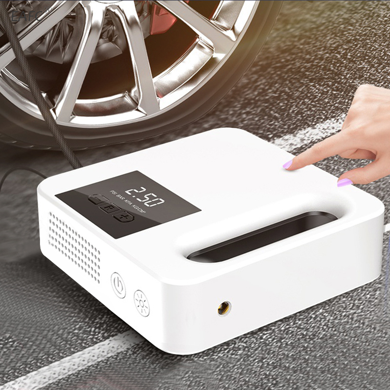 Large Screen Car Tire Inflator Air Pump Protable Electric Car Air Compressor Mini Tire Inflator Auto Tyre Pumb 12V Air Inflator(China)