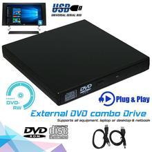 USB 2.0 External Slim CD±RW DVD ROM Combo Drive USB2.0 DVD Drive CD RW Writer Burner Reader Player for PC Laptop