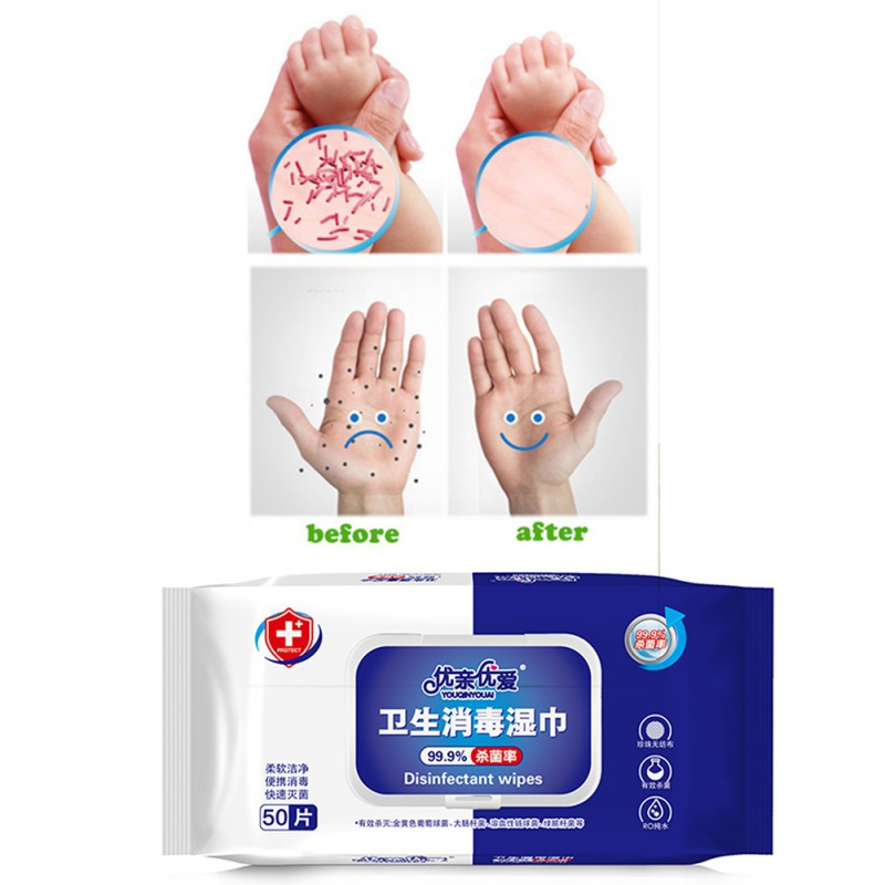 Wholesale 50 Pack Alcohol Sterilized Wet Disinfection Wipes Cleaning Sterilization Tissue Disinfection Wipes Sterilization Wet