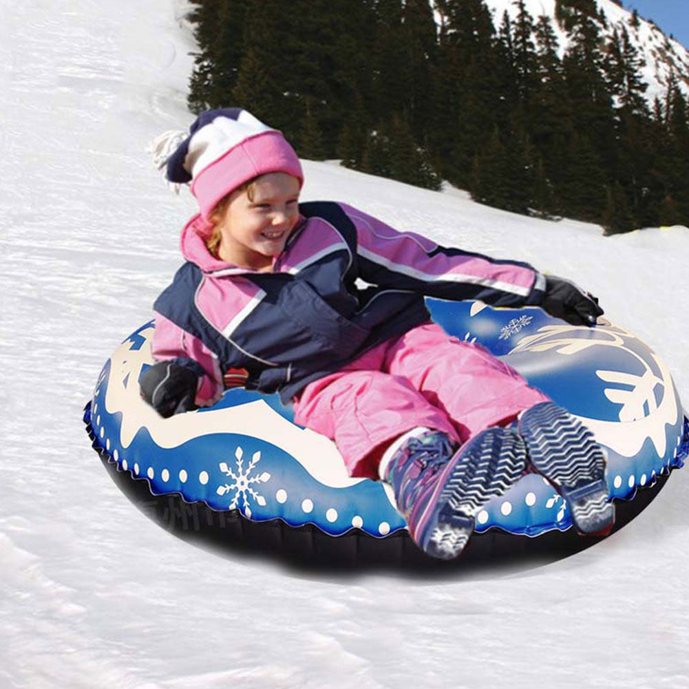 Family Games Durable Winter Outdoor Ski Circle Snow Tube Toy Raft With Handle Inflatable PVC Sports Sturdy Adults Childern