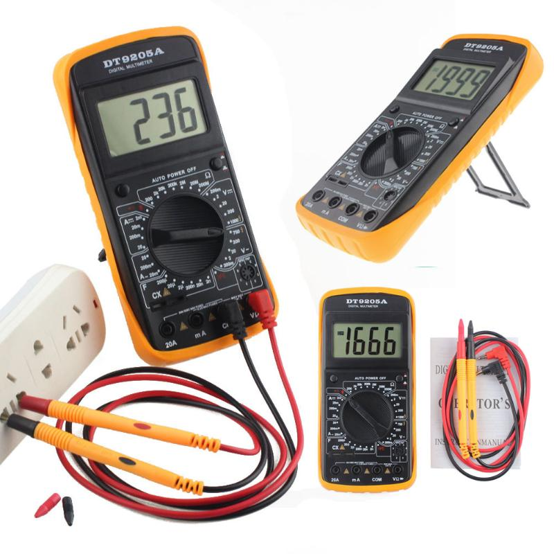 Digital AC/DC LCD Display Professional Electric Handheld Tester Multimeter Full-function Surge Protection Battery Power Supply